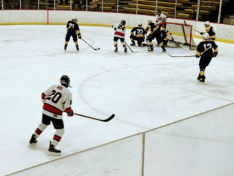 Action in front of the Saline net.