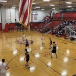 The Marquette Redmen bring the ball up the floor