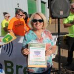 Sally Menapace of Marquette one the 195 gallons of gas from Kountry Korner Shell & Mini Mart special prize!