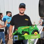 Carl Knofski from Harvey won the toy tractor from Northland!