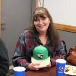 Another winner of a door prize hat!