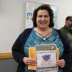 Karla Bressette of Marquette was the lucky winner of the Kountry Korner Crossroads gas card!