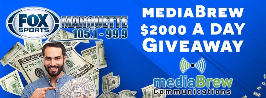 mediaBrew's $2000 a Day Giveaway